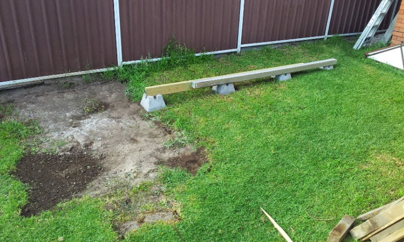 Shed Foundation using handi blocks as support